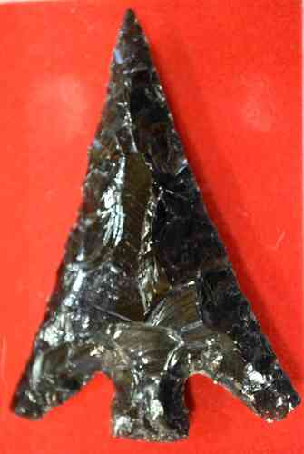 Pointe flèche obsidienne triangle 66