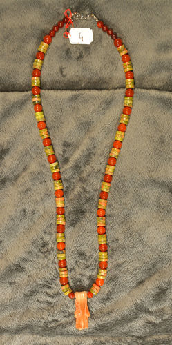 Collier Aragonite Unakite N04